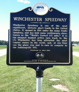 Winchester Speedway recently received a historical marker celebrating the tracks 100th anniversary.
