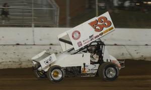 Christopher Bell won Wednesday night's Illinois Sprint Week feature at Highland Speedway. (Mark Funderburk photo)