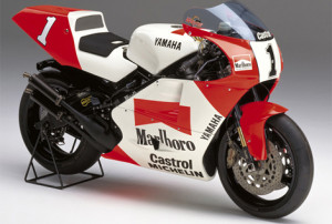 A 1992 YZR 500 of the type Bruce Anstey will ride in the Classic TT for Valvoline by Padgett's