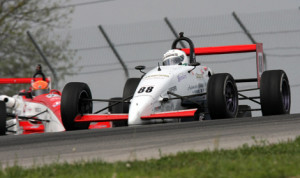 Tim Minor rolled to victory in Sunday's F2000 Championship Series race at the Mid-Ohio Sports Car Course. (Jeff Loew Photo)