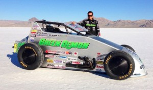 Damion Gardner will once again attempt to break the 200 mph barrier in his specially designed sprint car next month at the Bonneville Salt Flats.