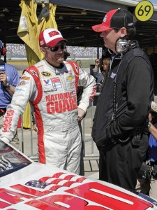 Dale Jr., left, has had some great moments with crew chief Steve Letarte, including winning the Daytona 500. (HHP/Tom Copeland photo)
