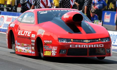 Erica Enders-Stevens earned her fourth NHRA Pro Stock victory of the season Sunday in Norwalk, Ohio. (Frank Smith Photo)