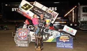 Daryn Pittman earned his 11th World of Outlaws STP Sprint Car Series triumph Wednesday at New York's Fulton Speedway. (Fulton Speedway Photo)
