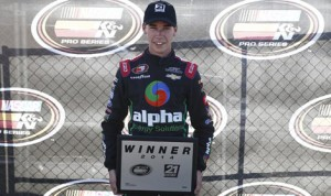 Ben Rhodes will start form the pole for Friday's NASCAR K&N Pro Series East event at New Hampshire Motor Speedway. (NASCAR Photo)