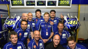 Valentino Rossi will spend the next two MotoGP seasons with his Yamaha team, after a Wednesday contract extension. (Yamaha photo)