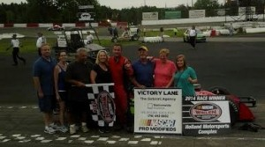 Chris Powers scored the victory Saturday at Holland NASCAR Motorsports Complex. (HNMC photo)