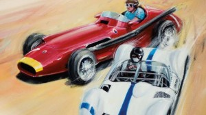 The Rolex Monterey Reunion poster features two classic Maserati cars. (RMR photo)