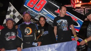 Tim Crawley took the win in Thursday night's Glen Francis Memorial at Crowley's Ridge Raceway, his second straight USCS victory after going winless through the first four months of the season. (Jacob Seelman photo)