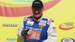 Ken Schrader's pole at Winchester wasn't the only fun moment of his Fourth of July weekend. (ARCA photo)