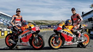 Marc Marquez and Dani Pedrosa will have Repsol Honda's partnership available to them through 2017. (Honda photo)