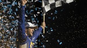 Chase Elliott won Saturday's NASCAR enjoyillinois.com Nationwide Series race at Chicagoland Speedway in Joliet, Ill. (Brett Moist photo)