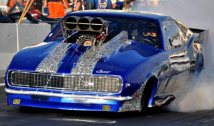 Joe Delehay capped off his record-setting weekend with a win in Pro Modified at Castrol Raceway. (IHRA Photo)