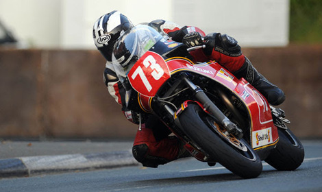 Michael Dunlop on Team Classic Suzuki's XR69 at the Isle of Man Classic TT in 2013. (IOM TT Photo)