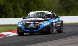 Kenton Koch swept both SCCA Mazda MX-5 Cup events Saturday at Canadian Tire Motorsports Park. (Al Merion Padron Photo)