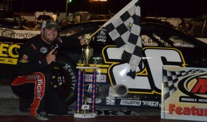 Bubba Pollard won Saturday's Southern Super Series event at Mobile Int'l Speedway. (Speed51 Photo)