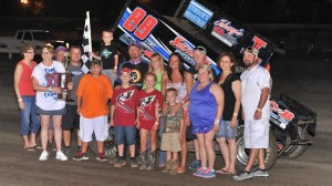 Brooke Tatnell claimed the win Saturday in the Open Wheel Nationals.