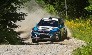 David Higgins and Craig Drew claimed their fourth Rally America National Championship Saturday in Maine. (Jordan Apgar Photo)