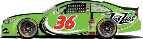 Zing Zang Bloody Mary will sponsor Reed Sorenson in the No. 36 Chevrolet SS in four NASCAR Sprint Cup Series events this season.