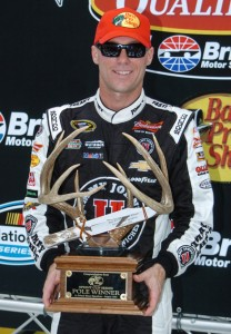 Kevin Harvick earned his fifth NASCAR Sprint Cup Series pole of the year Friday at Bristol Motor Speedway. (Drew Hierwarter Photo)