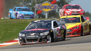 Austin Dillon, a Richard Childress Racing driver whose team is an RTA member, leads a pack of cars during Sunday's Cheez-it 355 at Watkins Glen Int'l in Watkins Glen, N.Y. (HHP/Alan Marler photo)