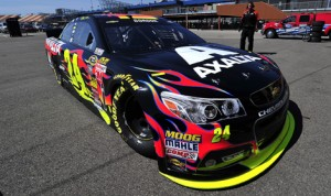 Jeff Gordon claimed the pole for Sunday's NASCAR Sprint Cup Series race at Michigan Int'l Speedway, topping 206 mph in the process. (HHP/Rusty Jarrett Photo)