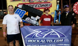 Shawn Nelson won Saturday's USCS www.rockauto.com 600 Sprint Series feature at Dixie Speedway. (Jacob Seelman Photo)