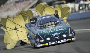 John Force was the No. 1 qualifier Friday night at Pacific Raceways in Seattle. (NHRA photo)