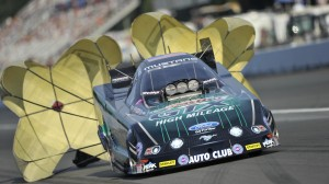 John Force captured his 150th career NHRA top qualifying spot in Funny Car competition on Saturday. (NHRA photo)