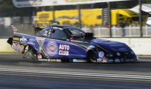 Robert Hight was fastest in NHRA Funny Car qualifying Friday at Brainerd (Minn.) Int'l Raceway. (NHRA Photo)