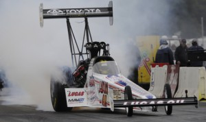 Morgan Lucas captured Sunday's NHRA Top Fuel event at Brainerd Int'l Raceway. (NHRA Photo)