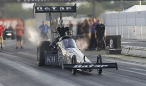 Shawn Langdon during U.S. Nationals testing Thursday at Lucas Oil Raceway. (NHRA Photo)