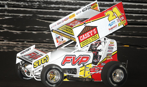 Brian Brown finally won the 360 Knoxville Nationals over the weekend at Knoxville Raceway. (Frank Smith Photo)