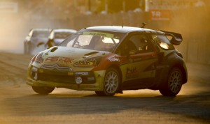 Petter Solberg on his way to winning Sunday's FIA World Rallycross Championship event in Canada. (McKlein/IMG Photo)