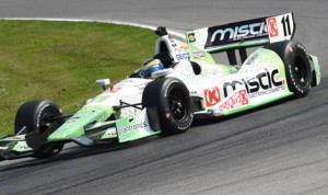Sebastien Bourdais set the pace in practice for Sunday's Verizon IndyCar Series event at the Mid-Ohio Sports Car Course on Friday. (Al Steinberg Photo)
