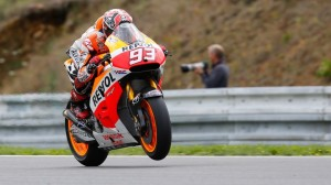 Marc Marquez won his ninth pole of the year in MotoGP qualifying at Brno on Saturday. (MotoGP photo)