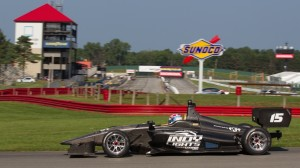 Tristan Vautier tested the new Dallara IL-15 Indy Lights chassis at Mid-Ohio Sports Car Course on Monday. (Theodore Rossino photo)