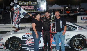Chad Finchum added two more victories to his weekend total Saturday at Lonesome Pine Raceway. (Drew Hierwarter Photo)