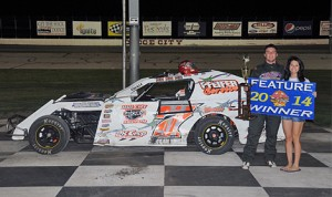 Clay Money was the winner of the IMCA Sport Modified Mayhem feature at Dodge City Raceway Park. (TWC Photo)