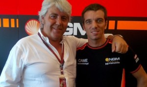 Team owner Giavanni Cuzari and rider Alex De Angellis