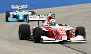 Zach Veach (26) scored a big win during Sunday's Indy Lights event at The Milwaukee Mile. (Dave Heithaus Photo)