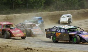 Modified action from Sunday afternoon at Plymouth Speedway. (Gary Gasper Photo)