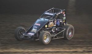 Dave Darland was the fast qualifier Thursday night at Kokomo (Ind.) Speedway. (Gordon Gill photo)