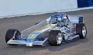 David Danzer won Saturday night's Mr. Supermodified feature at Oswego Speedway. (Dave Dalesandro photo)