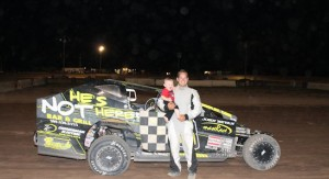 Gary Lindberg won his sixth DIRTcar Sportsman event of the season Sunday at New Humberstone Speedway. (Softtouch Photo)