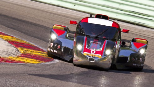 Katherine Legge and Andy Meyrick showed solid speed in the DeltaWing. (Shawn Mueller photo)