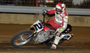 Kenny Coolbeth Jr. claimed Friday's AMA Pro Flat Track event at the Indiana State Fairgrounds mile. (Dave Hoenig Photo)