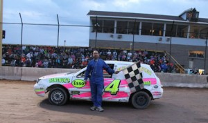 Jason Contu won a pair of races Sunday night at New Humberstone Speedway. (Softouch Photos)