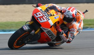 Marc Marquez will start from the pole for Sunday's Red Bull Indianapolis Grand Prix at Indianapolis Motor Speedway. (Dave Heithaus Photo)