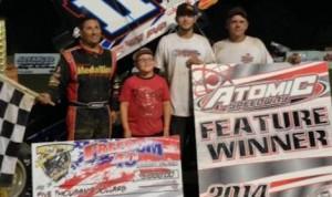 Randy Hannagan won Saturday's Renegade Sprints debut at Atomic Speedway in Ohio.